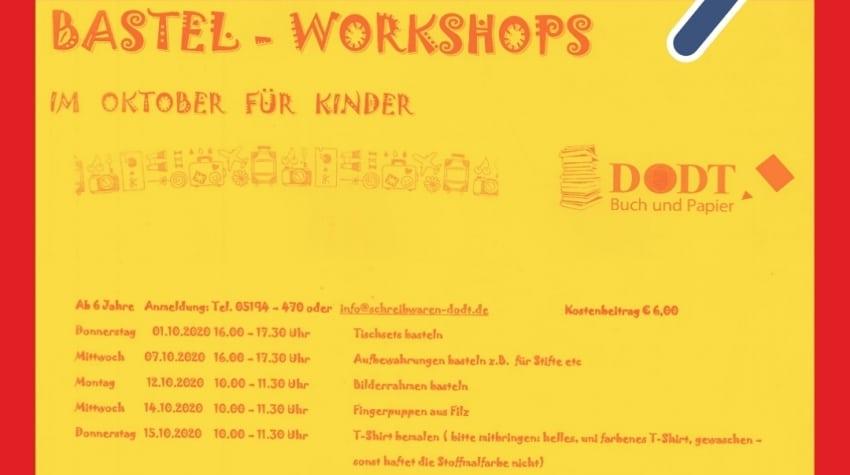 Bastelkurse für Kinder im Oktober 202 | Dodt Buch und Papier