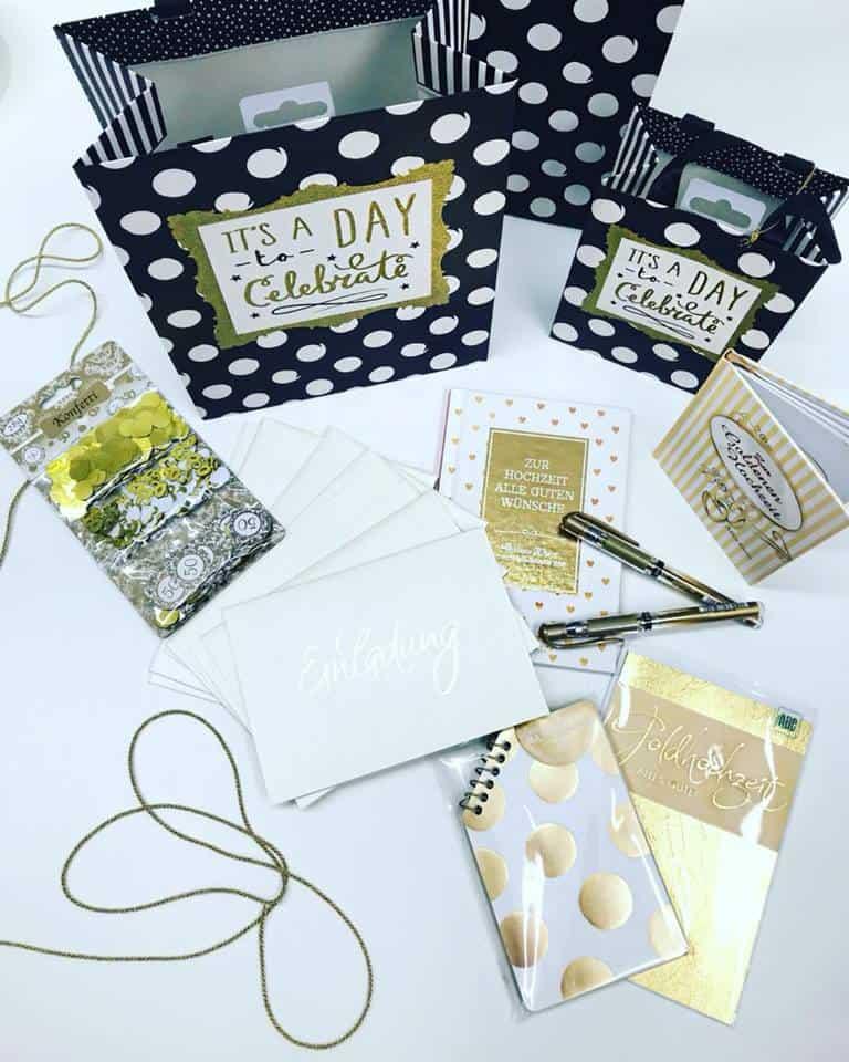 Schreibwaren Dodt: Glückwunschkarten, Geschenktüten und Dekomaterial für Ihre Goldhochzeit