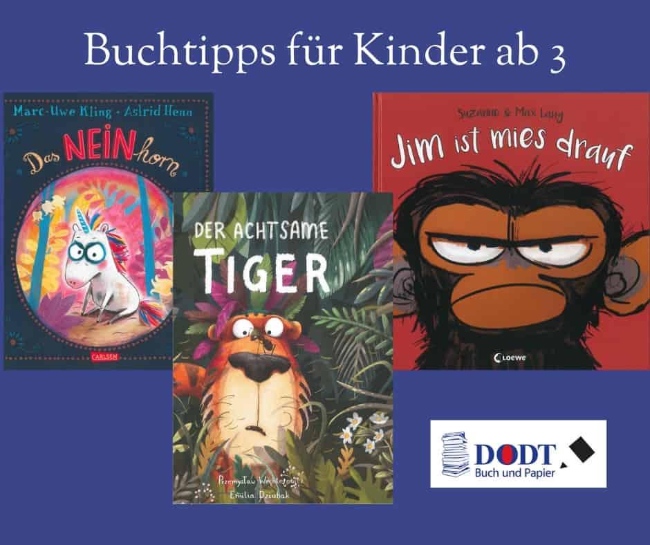 Bilderbuchtipps für Kinder ab 3 Jahren