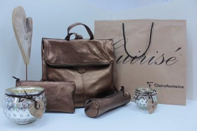 Rucksack, Täschchen und Schlampermäppchen von Clairefontaine