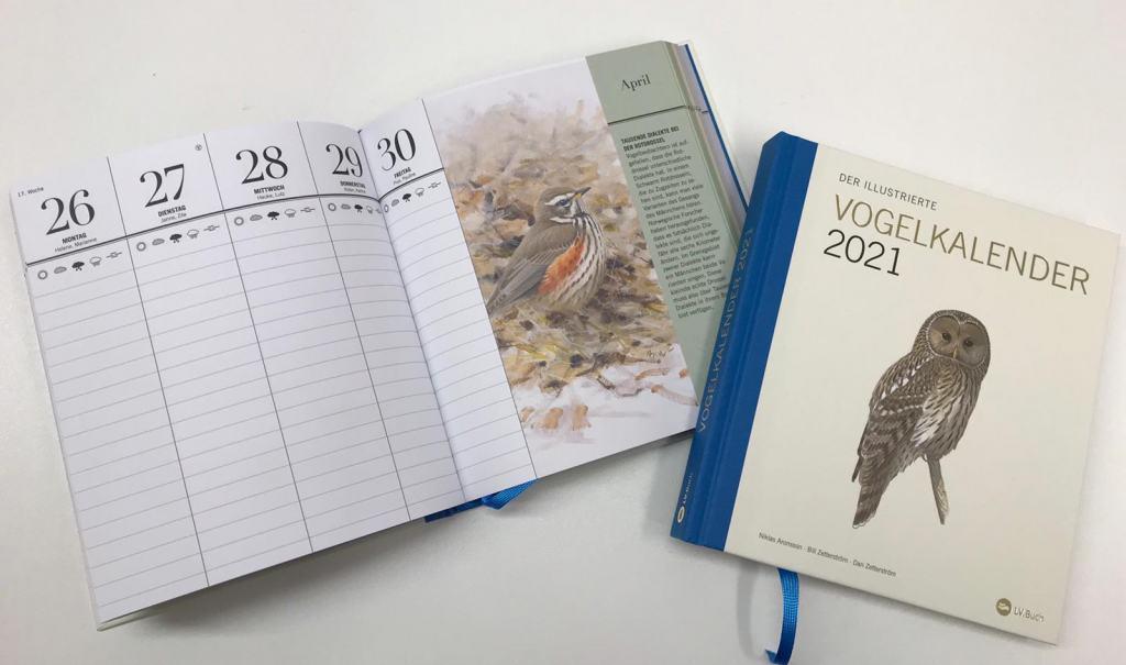 Neu bei uns: Der Illustrierte Vogelkalender 2021