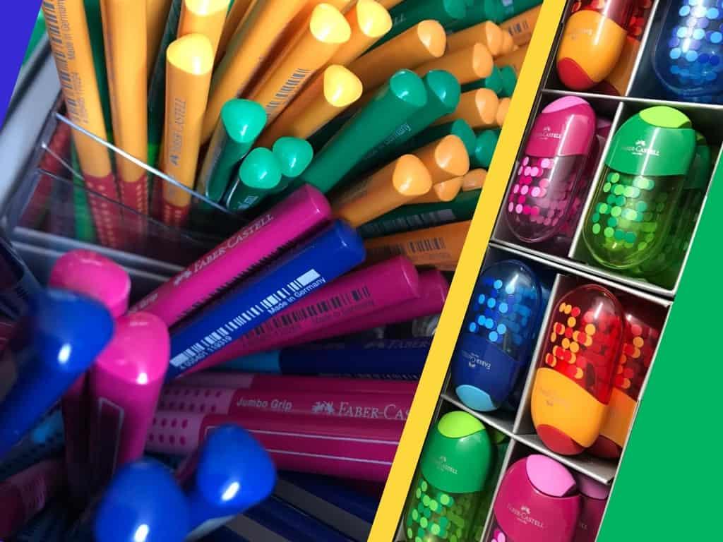 Ab sofort bei uns im Sortiment: Die neuen Bleistifte und passenden Anspitzer von Faber Castell!