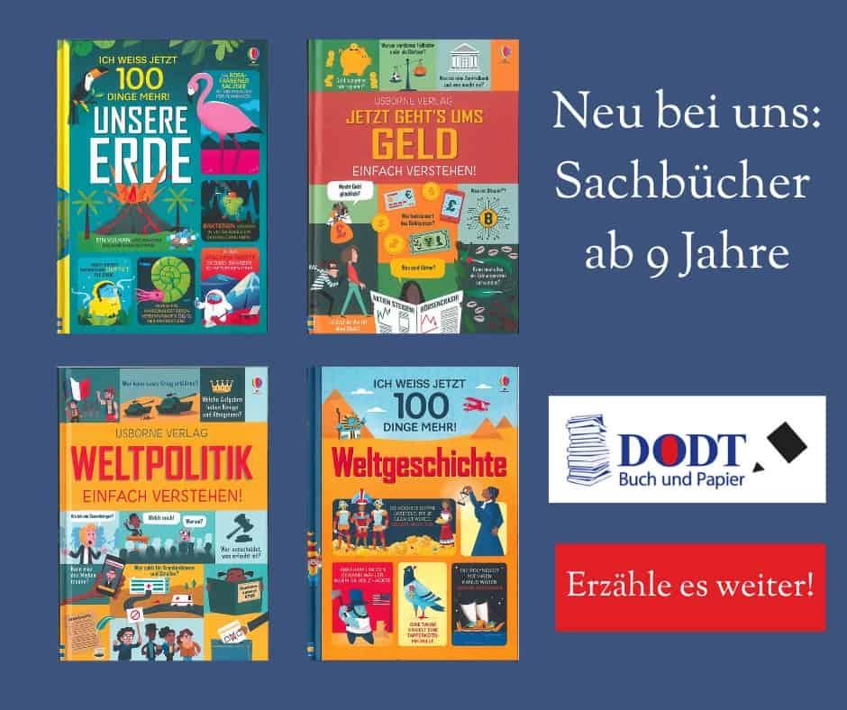 Neue Sachbücher für Kinder ab 9 Jahre vom Usborne-Verlag