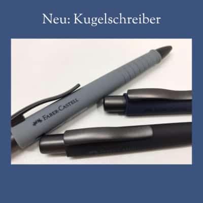 Neue Kugelschreiber von Faber-Castell bei Dodt Buch und Papier Bisipingen