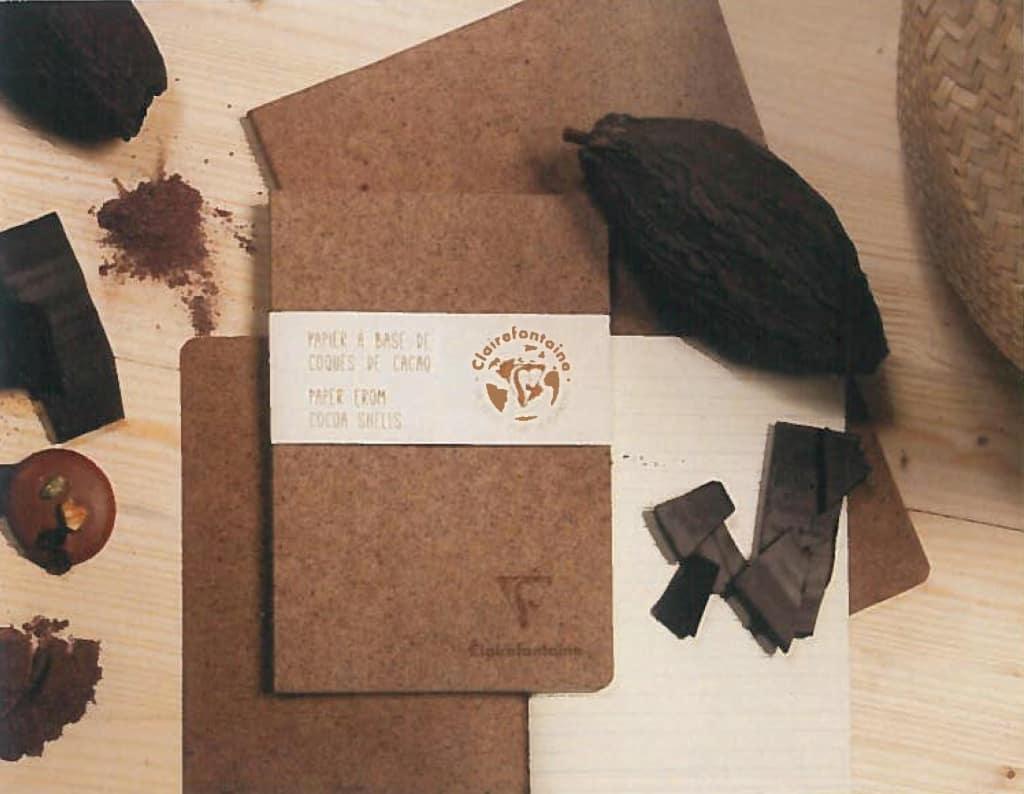Naturpapier Cocoa hergestellt unter Verwendung von Kakaoschalen und Kakaofasern